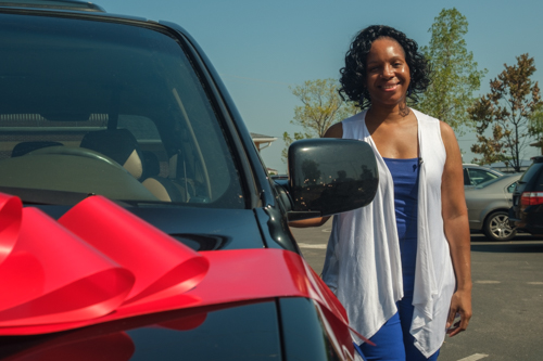 Former Homeless Family Receives Car