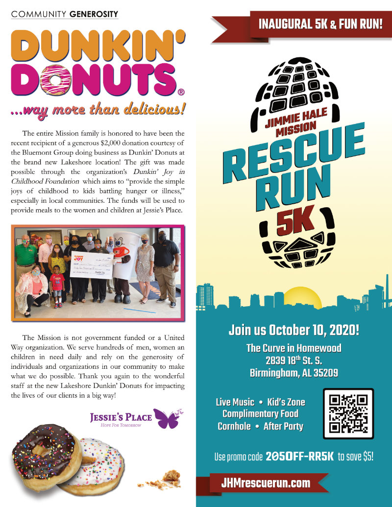 Dunkin' Donuts donates and Rescue Run registration is live